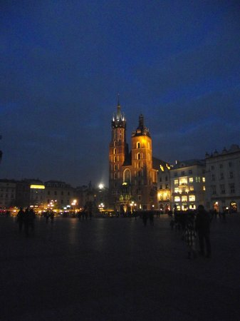 St. Mary's Basilica in Krakow:                                     Winter Evening