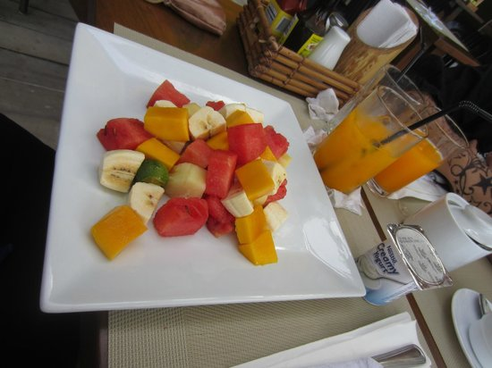Jony's Beach Resort:                                                       One of the breakfast choices