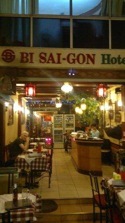 Bi & Bee Saigon Hotel & Restaurant:                                     Restaurant (mostly open air)