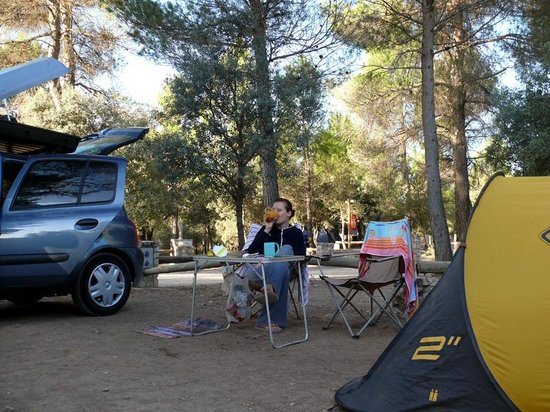 Camping Sierra  María:                   nasze miejsce kempingowe