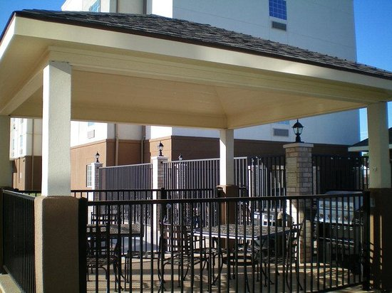 Candlewood Suites Abilene : Abilene guest at Candlewood BBQ at the Poolside Gazebo.