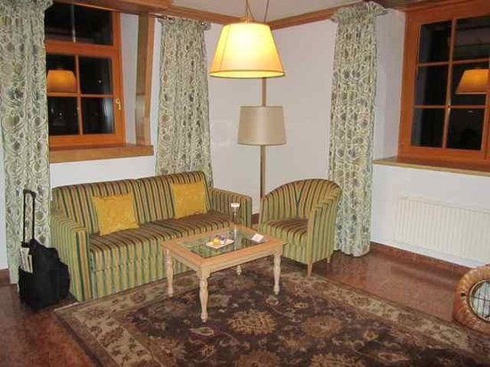 The living room of our Junior Suite - Picture of Grand Hotel Zell ...