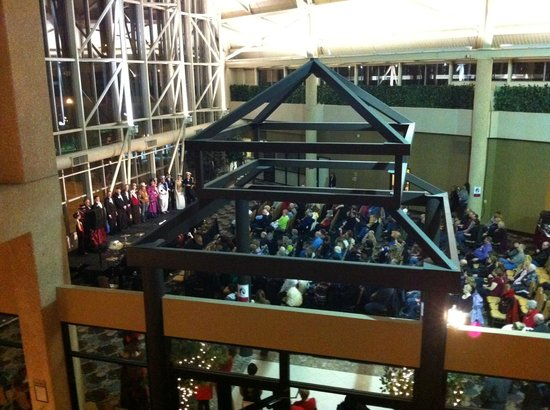 DoubleTree by Hilton Hotel St Paul Downtown:                   Watched the Klondike Kate Winter Carnival Cabaret from 2nd Floor for free.