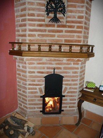 Hotel Santo Tomas:                                     Well-designed fireplace