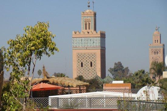 Palais Riad Calipau Marrakech:                   Vue de la terrase