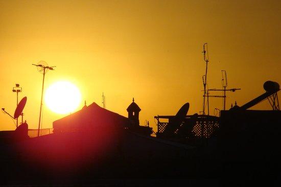 Palais Riad Calipau Marrakech:                   Coucher de soleil sur la terrasse