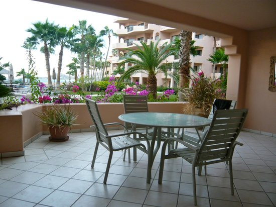 El Zalate Villas:                                     Tiled patio for sunning, relaxing & dining