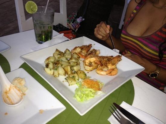 Mojitos :                   shrimp