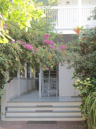ذا جاردينز هوتل:                                     stairs up to our room in the garden building               