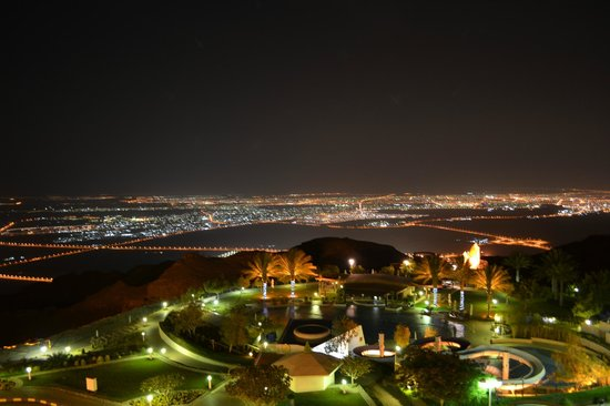 Mercure Grand Jebel Hafeet Al Ain:                   From our Room at night