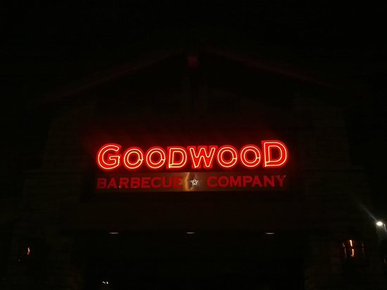 Goodwood Barbecue Company:                   restaurant signboard