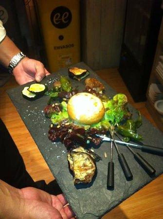 Delicius:                   excelente ensalada de queso de cabra