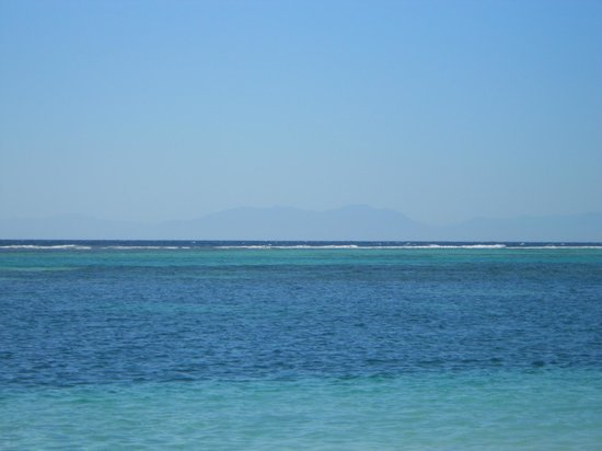 Fantasy Island Beach Resort:                                     Honduran mainland in the distance