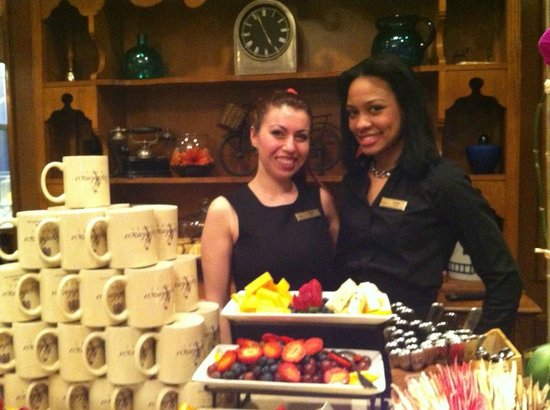 Casablanca Hotel Times Square:                   Outstanding staff at Rick's, complimentary pastries, fruit, cheese, wine