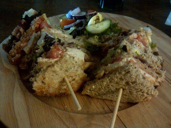 Fox and Hounds: triple-decker 'Club' sandwich