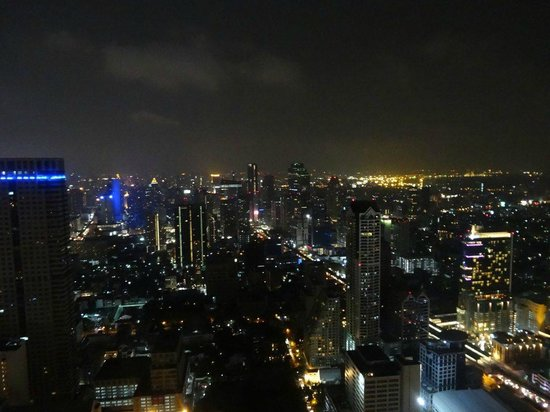 lebua at State Tower:                   vue chambre de nuit
