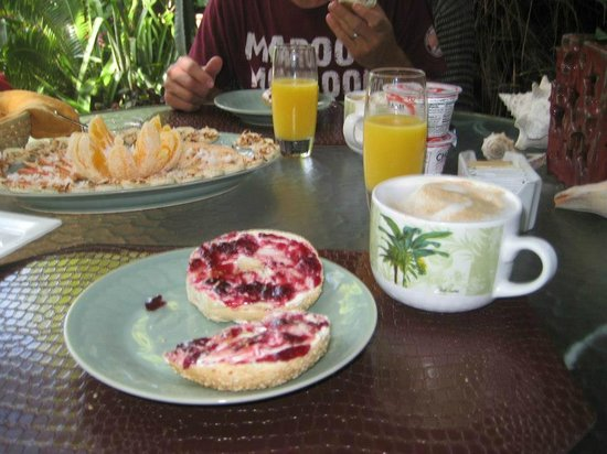 Atlantis House:                   Breakfast on Patio