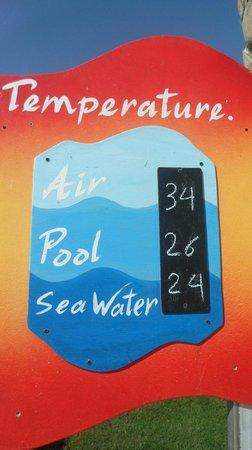 Hilton Sharks Bay Resort:                   Sign near the pool