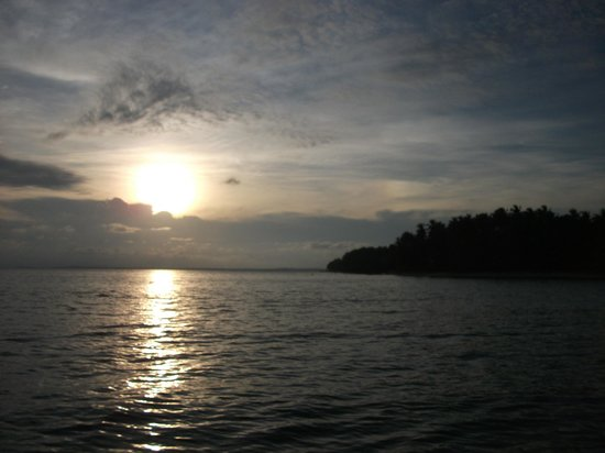 Casa Cayuco:                   Sunset from the boat