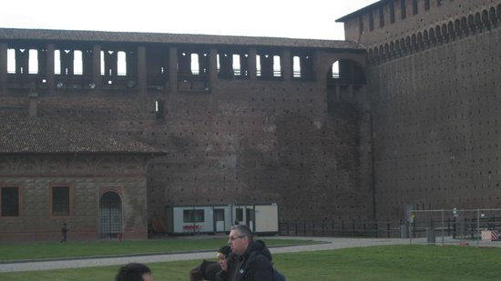 Castello Sforzesco: The old walls.