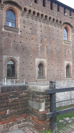 Castello Sforzesco: New windows of the castle. Not old.