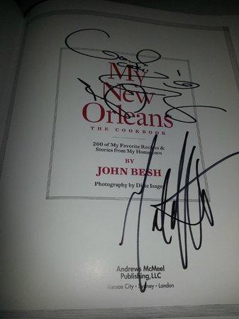 Restaurant August:                                     autographed book