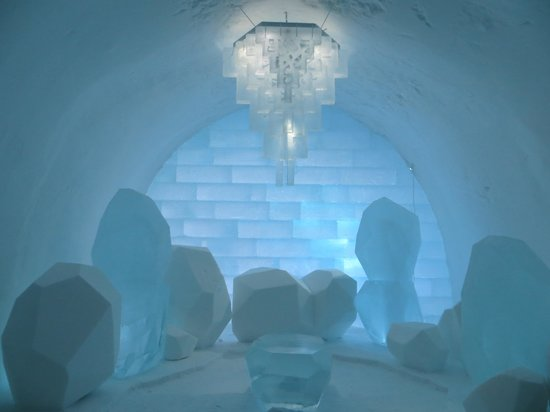 Icehotel:                   In the Ice Hotel