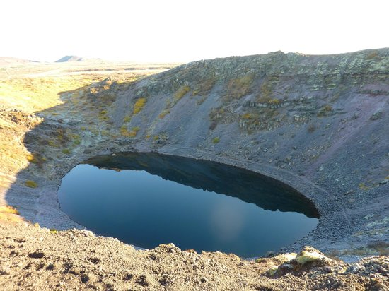 Iceland Horizon:                   Golden Circle Tour: Kerid volcanic crater