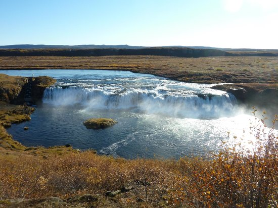Iceland Horizon:                   Golden Circle Tour: Faxafoss Waterfall