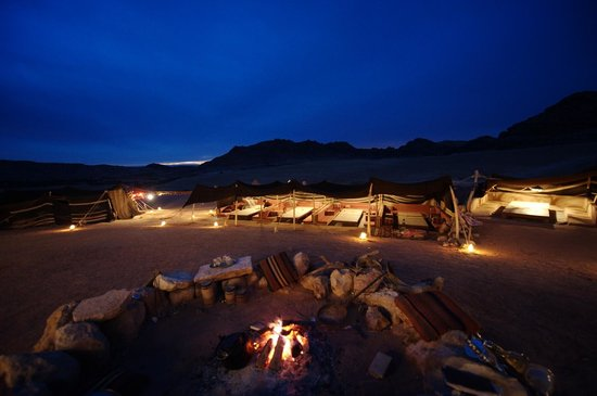 The Rock Camp - Petra:                                     the fire