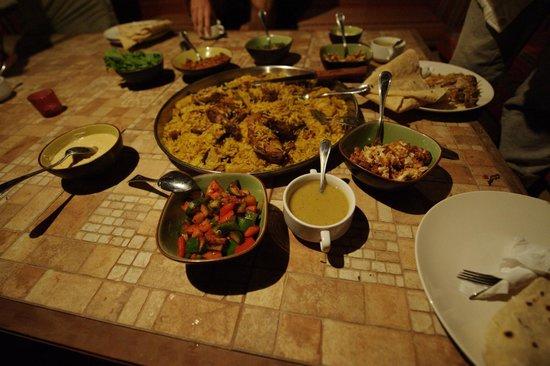 The Rock Camp - Petra:                                     tasty