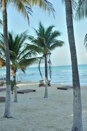 Na Balam Beach Hotel:                                     playa del hotel                                  