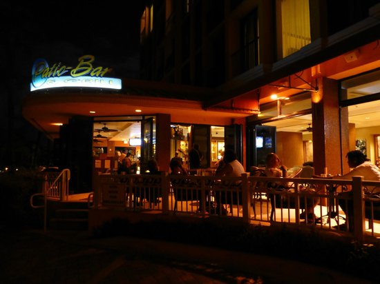 Delightful Patio Bar And Grill: The Entrance At Night