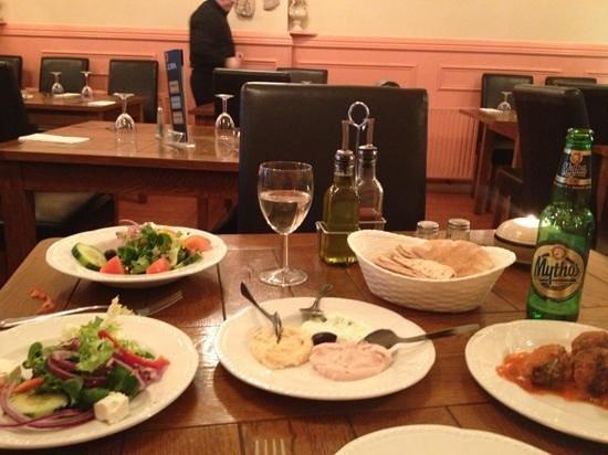 Zorba Mediterranean Taverna:                   meze starter