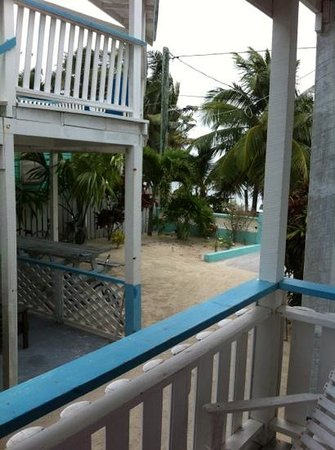 Costa Maya Beach Cabanas:                   view from room 7