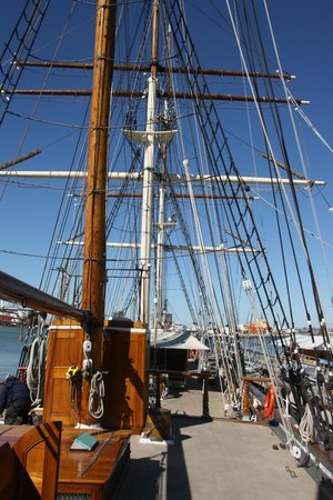 1877 Tall Ship ELISSA: Elissa on deck