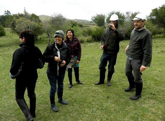 Parque Arqueológico Mina La Oriental: Cascos y botas para empezar el recorrido