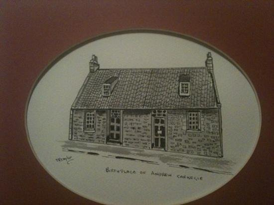 Andrew Carnegie Birthplace Museum:                   My Pen and Ink of Andrew Carnagie Birthplace