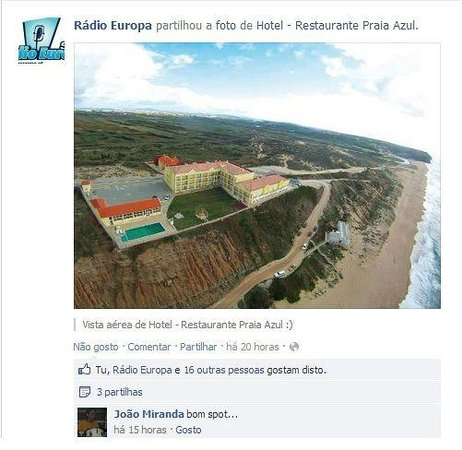 Praia Azul Hotel Restaurante:                   vista do hotel
