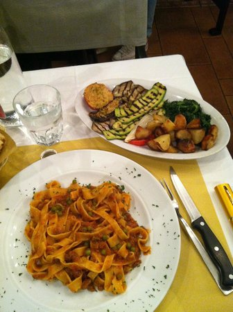 Da Ugo :                   A warm meal after a drive in the rain from Rome.