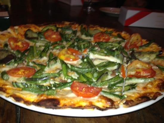 "Herencia Cafe:                                                       The very famous ""pinakbet pizza"" born (ori"