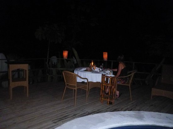 Lapa Rios Ecolodge Osa Peninsula:                                     Anniversary Dinner by the Pool