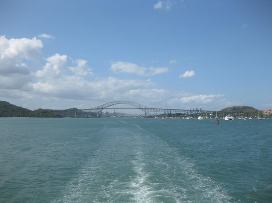 Panama Marine Adventures - Day Tours:                   View of the Bridge of the Americas from the Pacific Queen