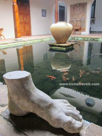 Apa Villa Illuketia: Cool Indoor Koi Pond