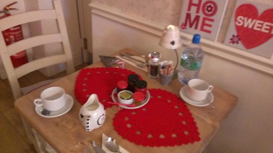 Heidi's Grasmere Lodge:                   Our very own table to enjoy breakfast each morning. So pretty!
