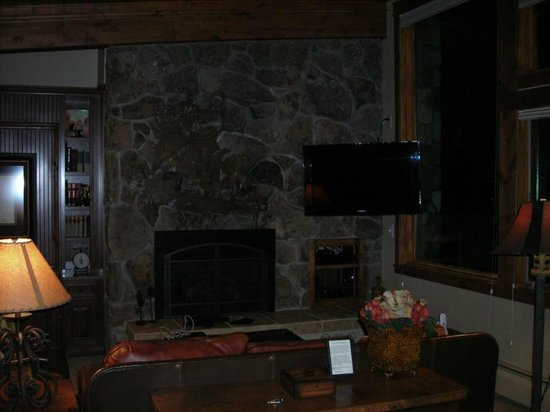 Manor Vail Lodge:                   Living area, fireplace, nice flat screen.