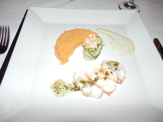 Paradisus Rio de Oro Resort & Spa: RS a la carte restaurant - lobster starter