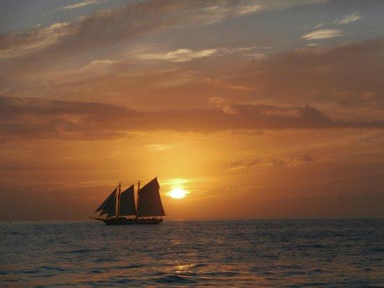 Schooner Jolly II Rover : tramonto