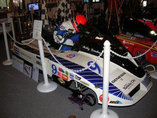 Snowmobile Hall of Fame and Museum:                   Old Ice Racer Sled