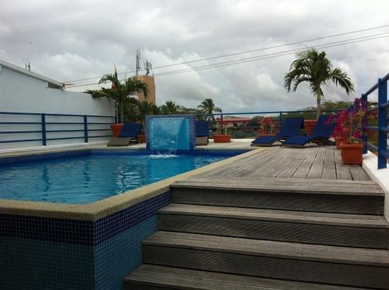 Posada La Mar: piscina en la terraza